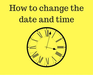 Change the date and time