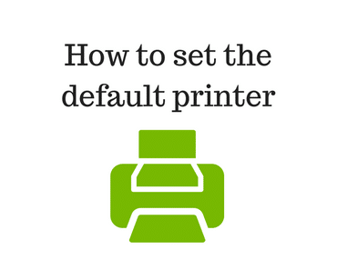 How to set the default printer