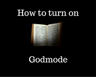How to turn on godmode