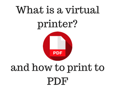 What is a virtual printer