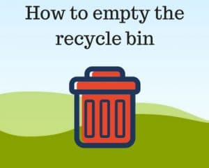 How to empty the recycle bin
