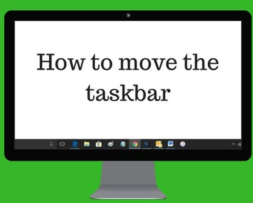 How to move the taskbar