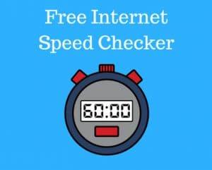 Free internet speed checker