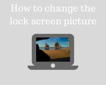 How to change the lock screen picture