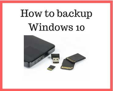 How to backup windows 10