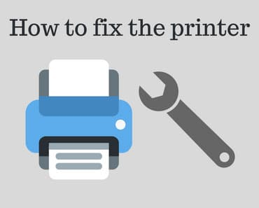 How to fix the printer