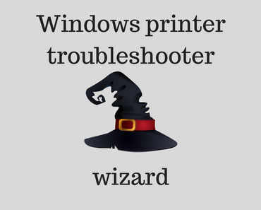 Windows printer troubleshooter