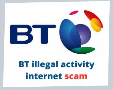 Call from BT advising the internet will be terminated in 24 hours due to illegal activity