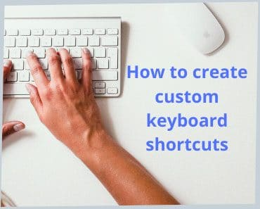 how to create a custom keyboard shortcut