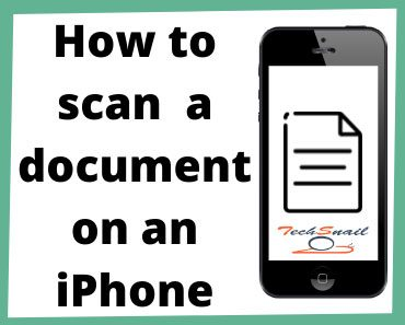 How to scan on iPhone?